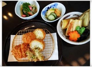 春野菜とひれかつ¥2100.JPG